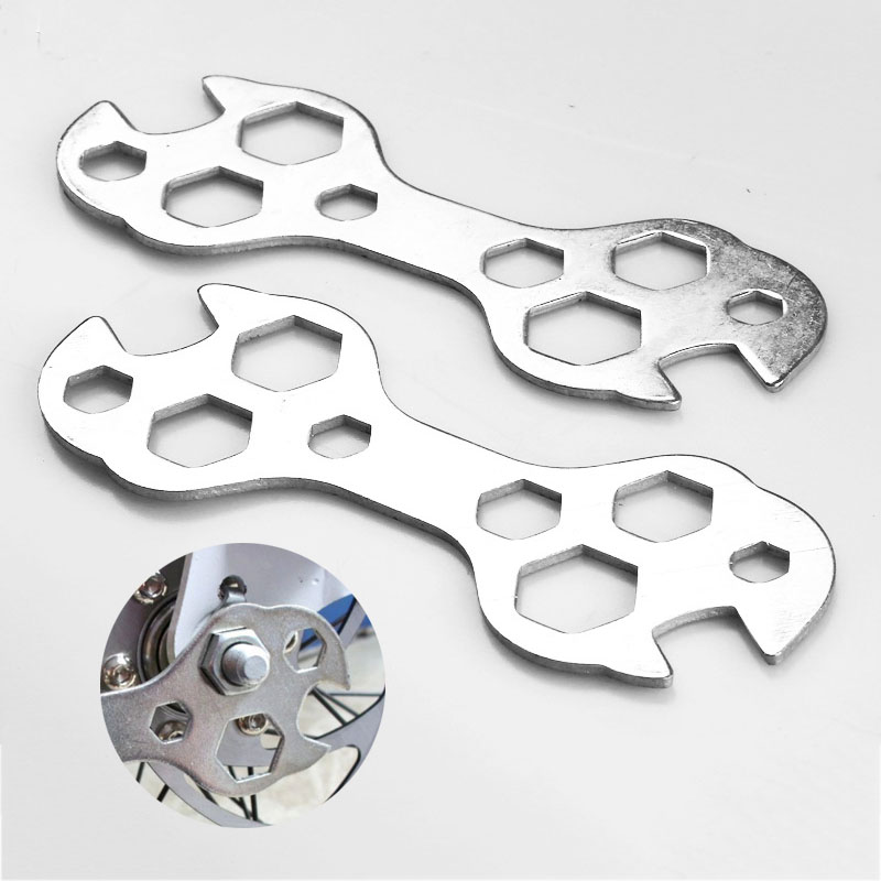 Cycling Portable Multitool Wrench 8-17mm Hex Multihole Screw Wrench Spanner Bicycle Repair Hand Tools Bike Cycle Repair Tool