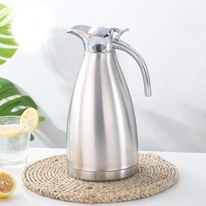 Image 2 - 1.5L 2L 二重壁のステンレス鋼魔法瓶ポットコーヒー茶熱絶縁水ボトル水差し