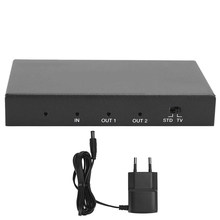 1x2 4K 18Gbps HDMI Splitter Video Adapter Switcher Box TV Monitor (EU 100-240V)(China)