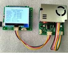 Detector 7-in -1 sensor module with screen PM2.5 PM10 temperature and humidity C02 formaldehyde TVOC