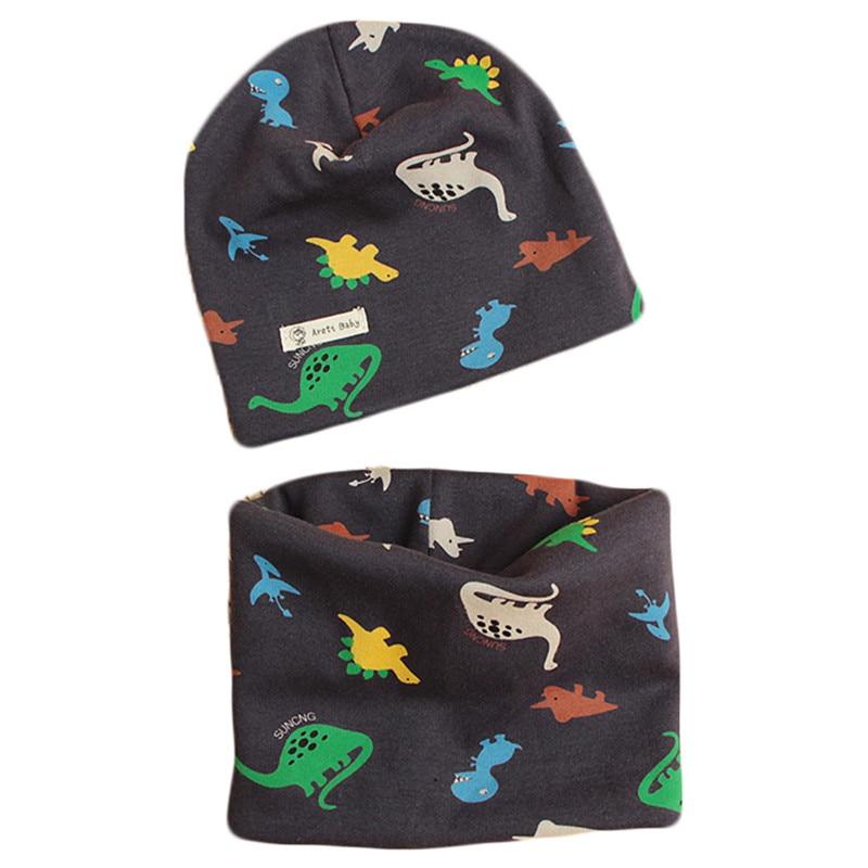 New Autumn Winter Cotton Baby Hat Collar Sets Crochet Children Scarf Hats Sets Girls Hat Scarf Set Fashion Boys Child Cap Scarf