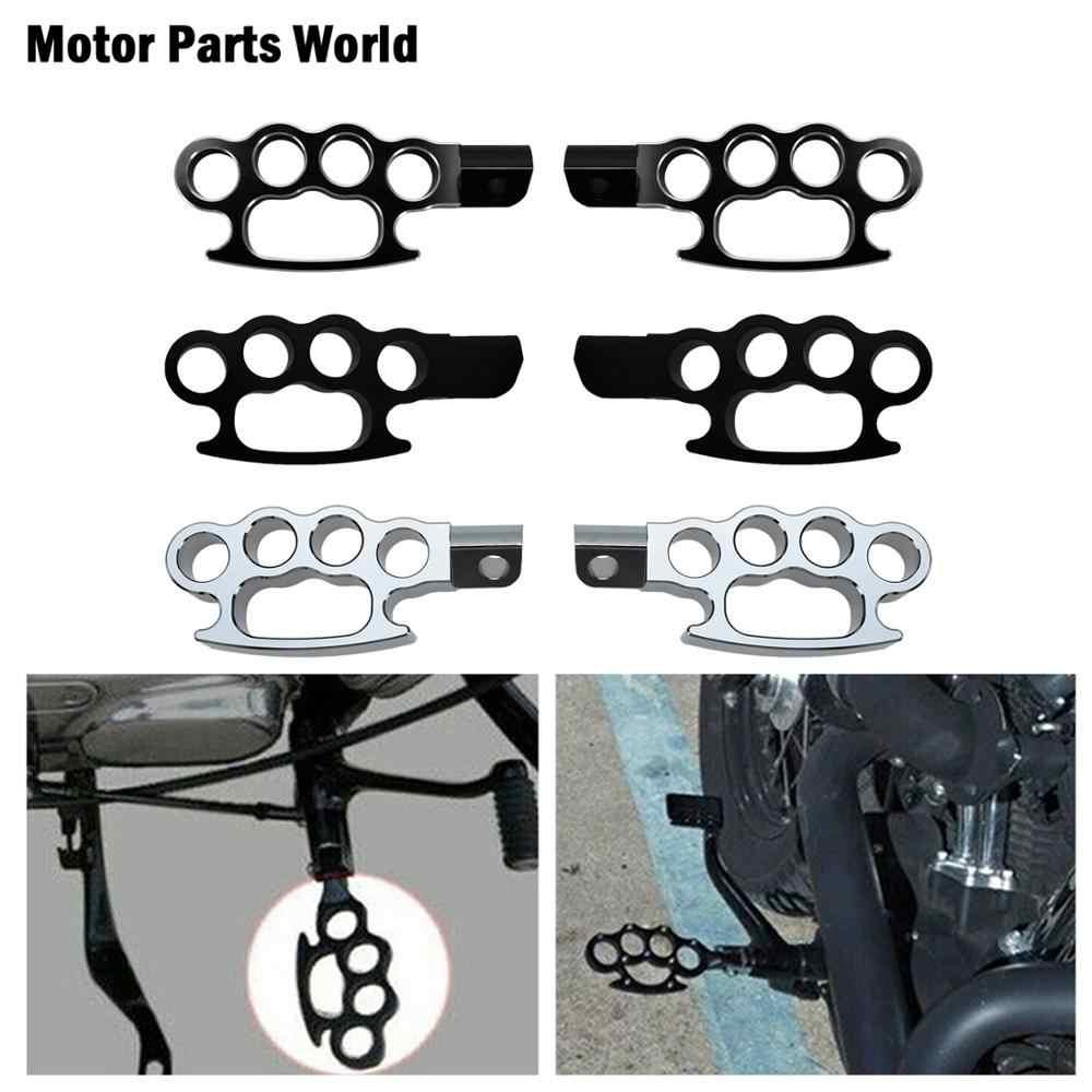 Controle voador para motocicleta, knuckle, pé universal, para harley sportster xl 883 1200 dyna fat bob softail