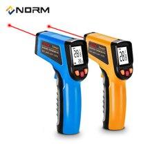 Норма 400 600 градусов Инфракрасный термометр бесконтактный промышленный и бытовой цифровой инфракрасный пирометр