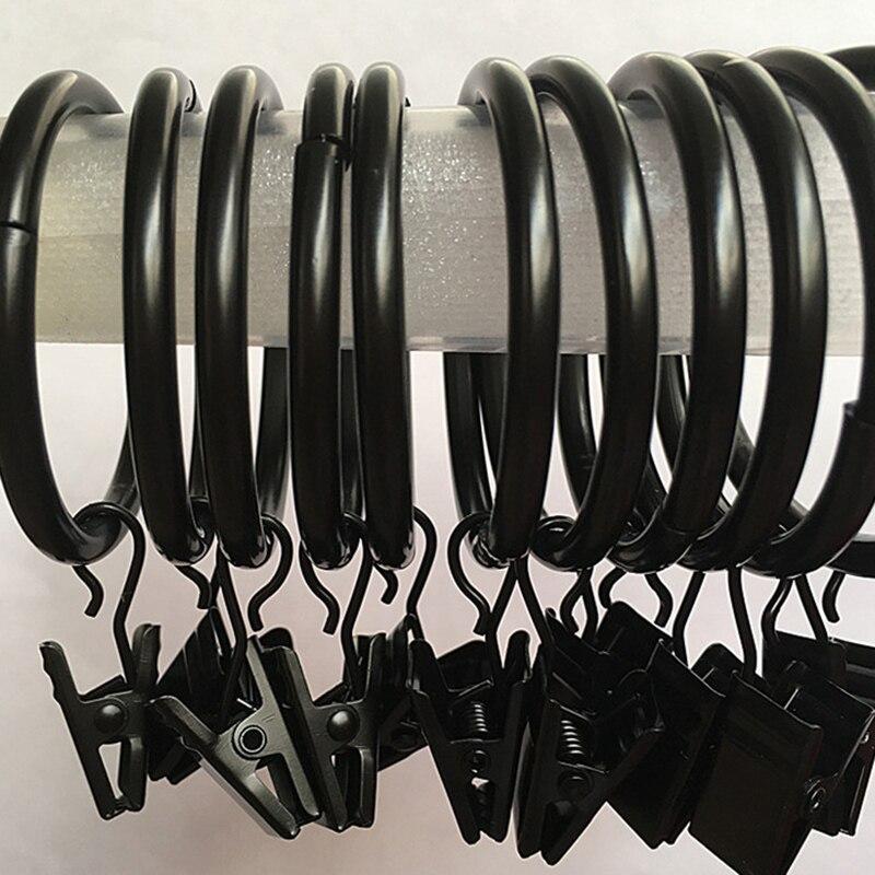 clip de la barra de cortina de acero inoxidable 10 anillos clips cortinas