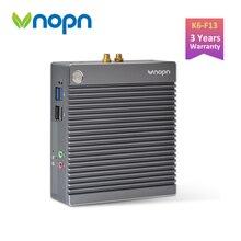 Vnopn Fanless Mini PC Intel Windows 10 Pro Small Computer N2940 Quad core Linux Dual Display LAN USB3.0 Thin Client