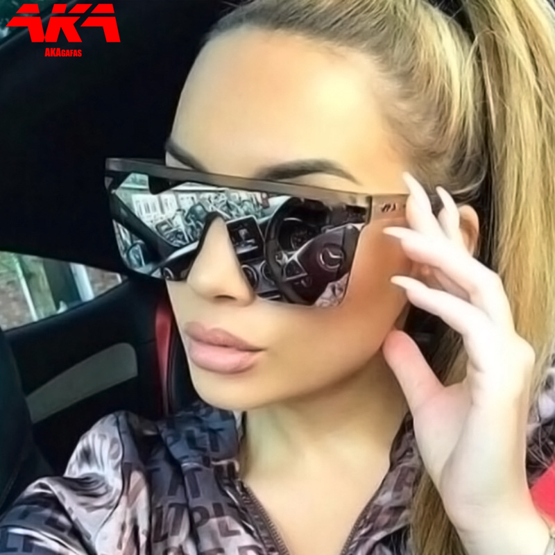 AKAgafas Square Glasses Oversized Sunglasses Women Gradient Sunglasses 2021 Luxury Eyewear Brand Designer Outdoor Oculos De Sol