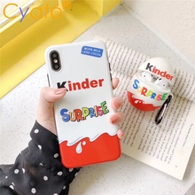 Candy Chocolate Brand funnly cute Kinder Joy surprise egg silicone case
