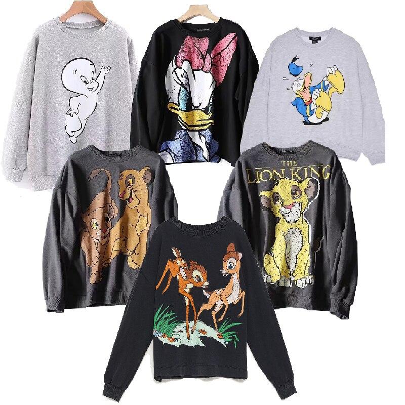 Women Clothing Sweatshirt Pullover Streetwear Tracksuits 2019 Autumn Casual Hooded Tee Jumper The Lion King Coat Top Hoodies