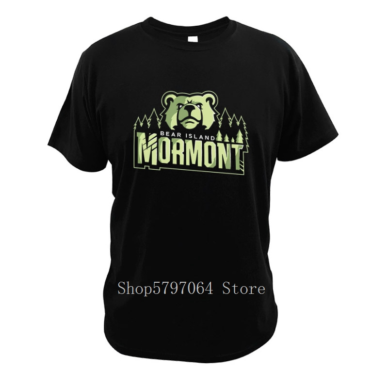 House Mormont T Shirt Bear Island Game Of Thrones Fantasy Tv Series T Shirts Digital Short Sleeve Print O-Neck Tops image