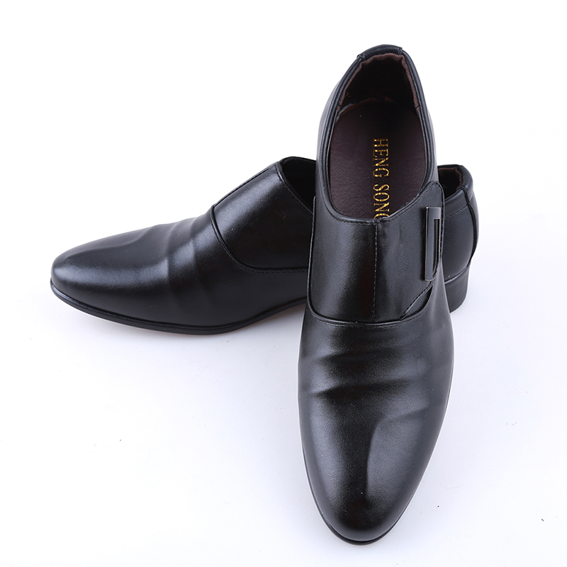 2020 Fashion Men's Bussiness Formal Shoes Brand Single Buckle Slip On Black Brown Man Office Party Wedding Dress Shoes Big