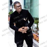 Latest Coat Pant Designs 2020 Designers Suit Men Slim Fit Black Velvet Formal Tuxedo Suit Wedding Dress Costume Homme Mariage