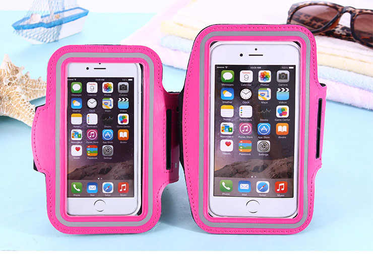 Розовая водонепроницаемая Спортивная Беговая повязка для спортзала для iphone 11 Xs Max XR X 8 4 4s 5 5S 5c SE 6 6s 7 7s plus чехол для телефона