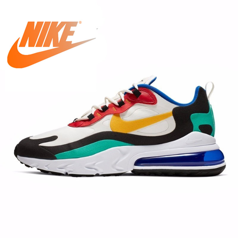 Original Authentic Nike Air Max 270 React Men's Running Shoes Fashion Outdoor Sports Shoes Color Sports Shoes New AO4971-002
