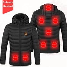 Aquecimento elétrico jaqueta com capuz das mulheres dos homens inverno térmico mais quente colete casaco de esqui roupas acampamento ao ar livre usb aquecimento colete jaquetas