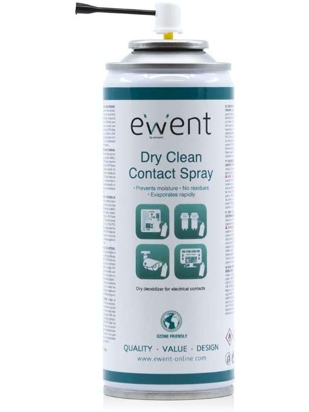 Envio24-48hrs Ewent EW5614-Sprayer for Cleaning dry contacts electric Spray 200ml, Clear