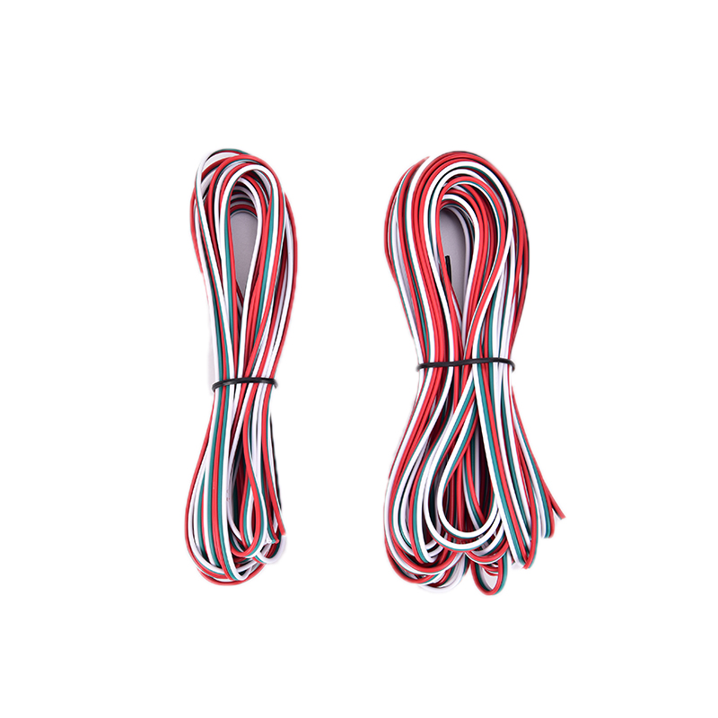 New 5/10m Tinned Copper <font><b>3</b></font> <font><b>Pin</b></font> AWG 22 Insulated PVC Extension LED Strip Cable Red Black <font><b>Wire</b></font> Electric Extend Cord Electrical <font><b>Wire</b></font> image