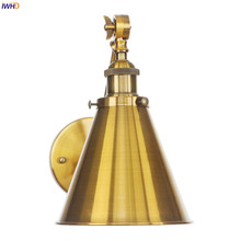 IWHD Wandlamp Antique Edison Wall Sconce Lights Adjustable Gold long Arm Stair Light Loft Decor Industrial Vintage Wall Lighting iwhd iron modern led wall lamp with switch arm sconce wall lights for home lighting fixtures angle adjustable wood wandlamp