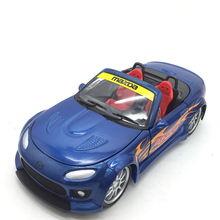 1:24 Scale Alloy Toy Car Die casting Mazd MX-5 Metal Car Model Toy Wide body Toy Car Miniature Static Model Gift For Kids 1 150 scale model car toy metal alloy diecast car model miniature scale model for train layout scenery