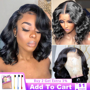 Body Wave 4x4 Bob Closure Wig Human Hair Wigs For Women 8-16 Inch Natural Hairline Bleached Knot 150% Remy Vrvogue Lace Wig