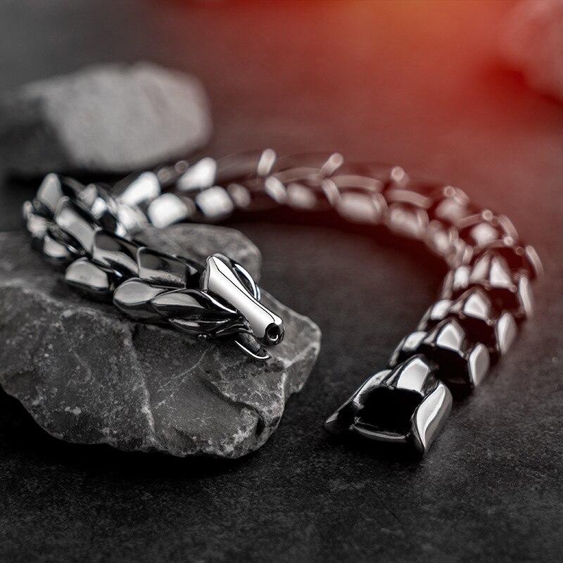 Bracelet dragon Yage acier inoxydable 2