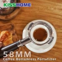 58mm Espresso Coffee Bottomless Portafilter Handle Solid Wood For Nuova/Oscar/Victoria Arduino Coffee Machine Tools Accessories