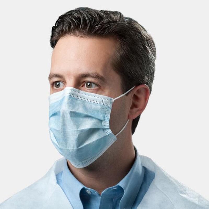 (10 Sets, 20 Sets, 50 Sets, 100 Sets) Gas Masks One-time Protection 3-layer Filter Haze Ear Dust Mask Non-woven Masks 4