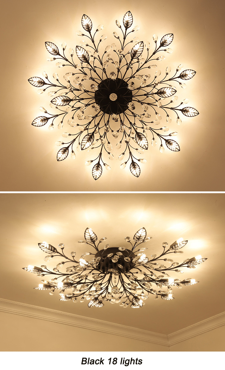 H31f4b1f5b9444652a3e8f468f686bf8fN Modern ceiling light for living room led Crystal ceiling lamp bedroom crystal lamps dining gold loft lighting Crystal Fixtures