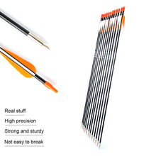 6/12/24pc 31 Inches Spine 700 with Orange Feather Fiberglass Arrow for Recurve Bow Arrow or Long Bow Practice/Hunting цена и фото