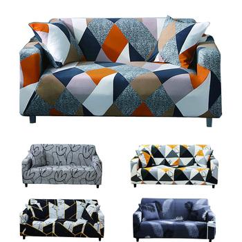 Elastyczny elastyczny pokrowiec na sofę narzuty all-inclusive pokrowiec na kanapę dla różnych kształtów Sofa Loveseat krzesło w stylu L potrzeba 2 pokrowiec na sofę tanie i dobre opinie S-EMIGA Sofa Cover Printed Modern Floral Podwójne siedzenia kanapa Polyester Cotton