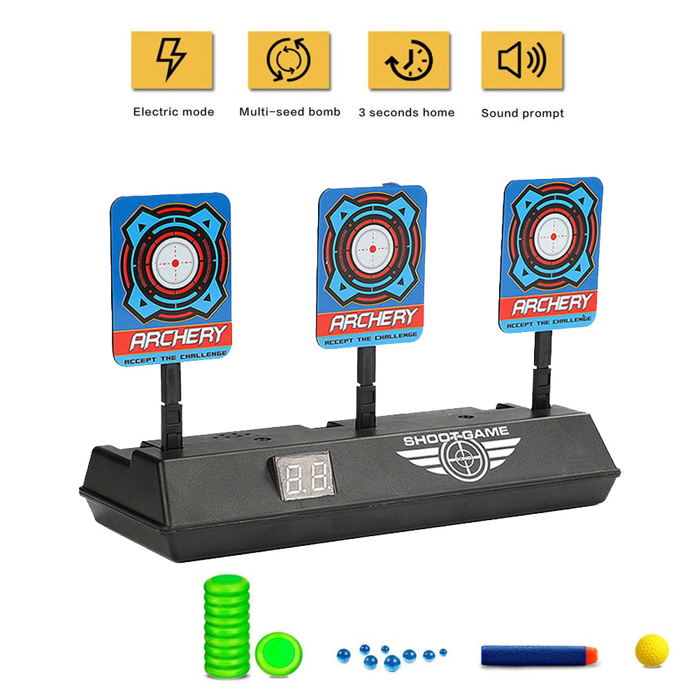 Intelligent Auto-Reset Electronic Scoring Target For Nerf N-Strike Elite/Mega/Rival Series Light Sound Scoring Target Kids Toys