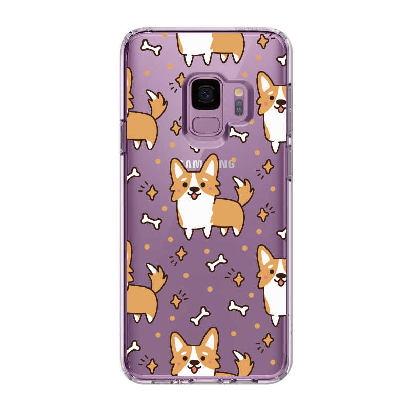 لطيف أجش جرو الكلب عاشق لسامسونج غالاكسي ملاحظة 8 9 10 A7 A8 S8 S9 S10 زائد لينة TPU الكريستال ضئيلة واقية حالة واضحة