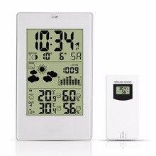 Беспроводные погодные часы 3352, погодные часы, светодиодные электронные часы, погодные часы с батареей для внутреннего и наружного использования