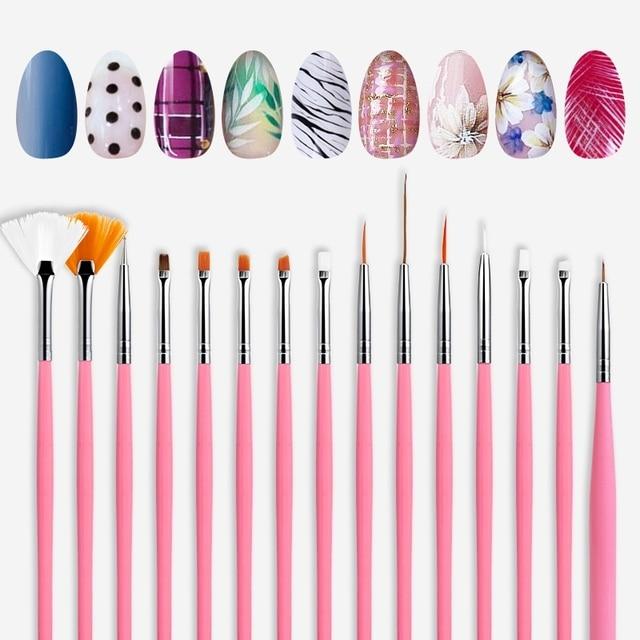 ROSALIND Nail Brushes Set for Manicure DIY Tool Set 3D Gel Acrylic Brushes Liner Pen Nail Art Brush For Nails Design 2