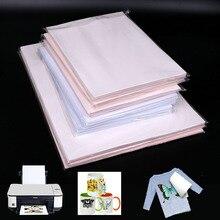 10 шт./компл. A4 тепла печатания на тенниске, проведённые систему аттестации качества Бумага для DIY Футболка чашки сумки картина Железный На Бумага для ручная работа светильник из ткани