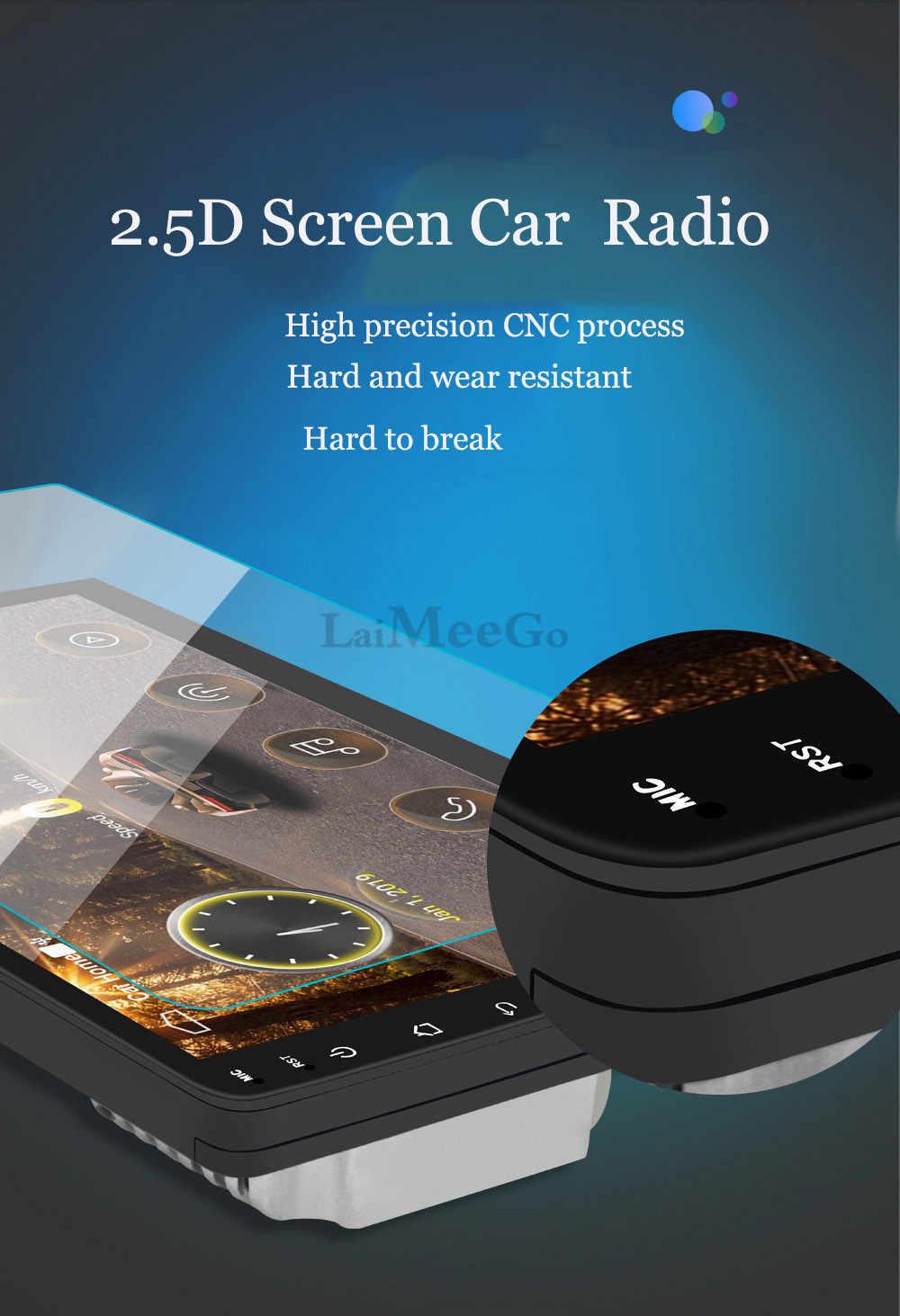 """2din カーラジオ 9 10.1 """"インチ Android システムオートステレオ 2.5D 容量性スクリーン、ブルートゥース無線 Lan GPS クアッドコアユニバーサル車"""