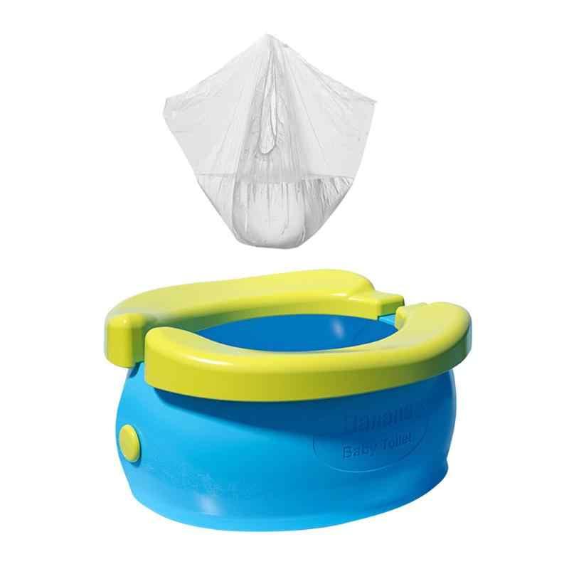 Inodoro portátil para bebés, orinal, orinal, viaje, orinal, bolsa para Garbag, orinal del coche, asiento de inodoro, plegable, bote para niños