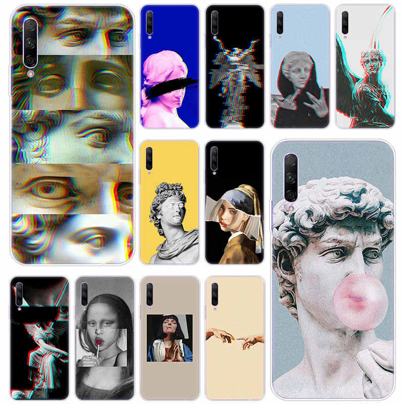 Hot Alternativa David Mona Lisa statua di arte Custodia Morbida per Huawei Honor 20 20i 10i 10 9 8 Lite 9X 8X 8A 8S 7S 7A Pro Vista 20 Play3