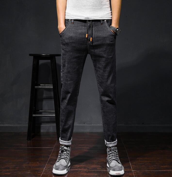 Spring New Design Casual 2020 Fashion Jeans For Men Stretch Ankle Length Male Pants Free  Shipping