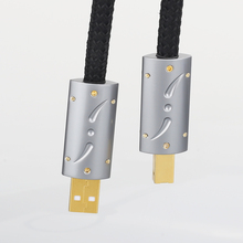 2020 Viborg UC01 HI End Silver Plated OFC USB Audio Cable Audiophile USB AB A B DAC Gold plating DAC Decoder Printer Data cable