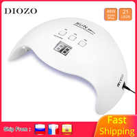 DIOZO Led Lamp Nail 48W/80W Gel Nail Polish Led Lamp For Manicure LCD Display Smart Timer Nails Dryer Auto Sensor Lamp For Nails