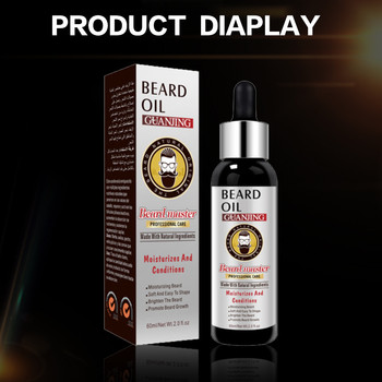2Pcs Beard Growth Enhancer Thickener Beard Essential Oil for Men Beard Growth Anti Hair Loss Products Moustache Fast Grow Beard 5