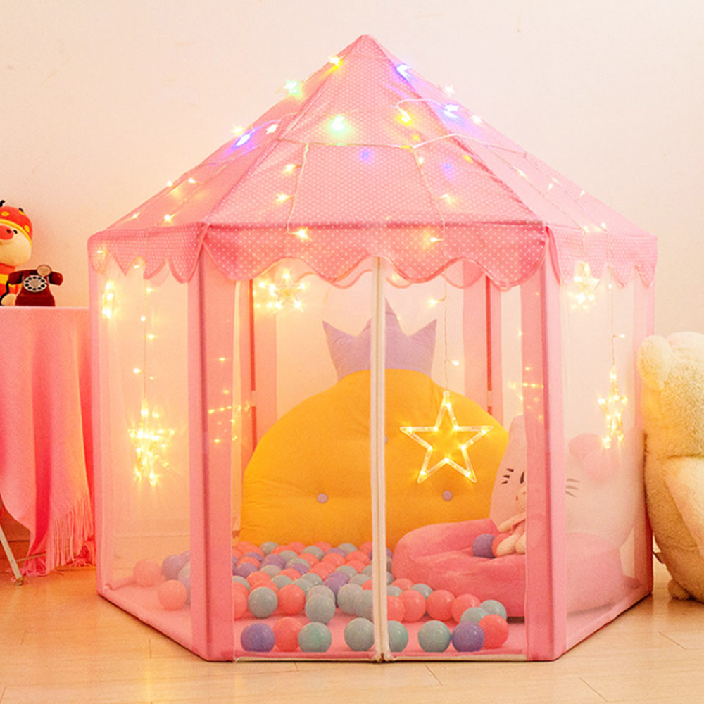 Portable Children's Tent Ball Pool Princess Wigwam Girl's Castle Toy Play House Kids Tent Baby Folding Outdoor Indoor Toys Gifts