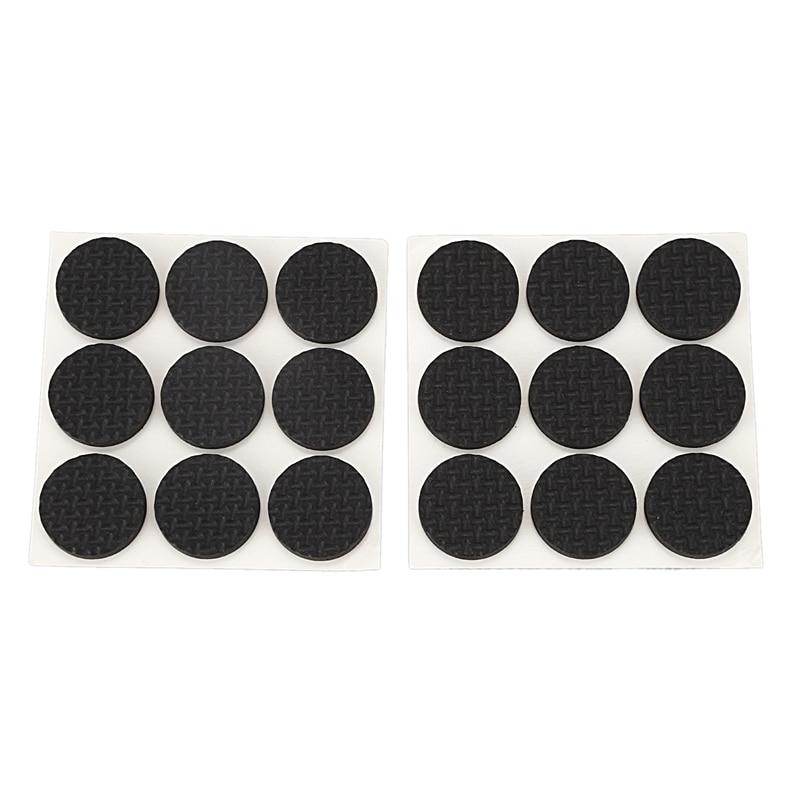 18 Pcs Self Adhesive Black Foam Table Chair Leg Pad Protector