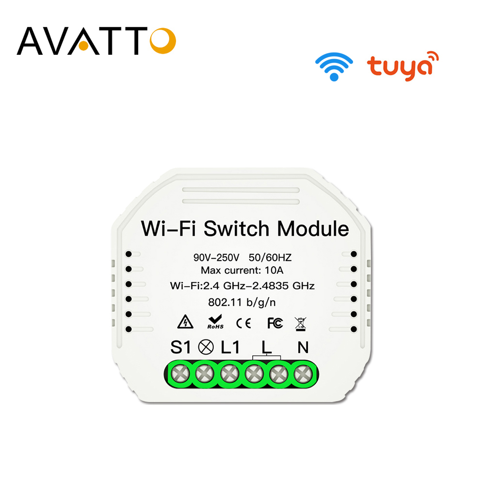 AVATTO Tuya Wifi Switch module with Smart Life App Control Smart Home Automation Interruptor Wifi  Work For Alexa google home