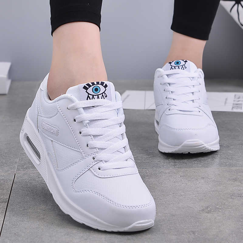 Winter Casual Schuhe Frauen Wohnungen Plattform Sneaker Damen Schuhe Flach Mode Komfortable Turnschuhe Frauen Mesh Großen Größe 2019