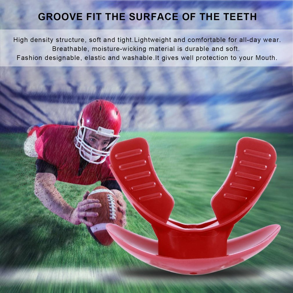 Food-Grade TPR Mouthgard Sport Thai Boxing Mouth Guard Adult Oral Teeth Protect Guard For For Boxing Basketball Football Rugby