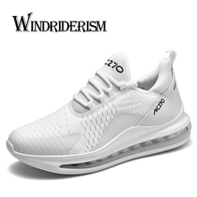 Fashion Air Cushion Brand Men's Running Shoes Comfortable Breathable Sneakers Casual Flyknit Upper Lightweight Sports Shoes