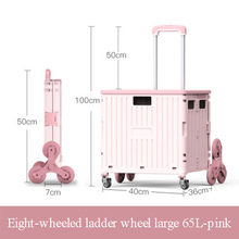Foldable Trolley 4-Wheel The Climbing-Artifact Grocery