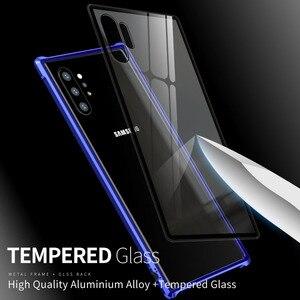 Image 5 - Armure métal pare chocs étui pour Samsung Galaxy Note 10 10 Plus étui 9H verre trempé couverture arrière rigide pour Samsung Note 10 Plus Coque