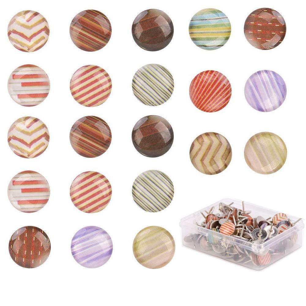 120pcs/box Push Pins Thumb Thumbtack Board Pins Drawing Photo Wall Studs Office School Supplies